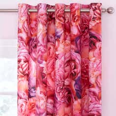 Pink Rose Petal Thermal Eyelet Curtains