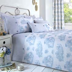 Blue Toile de Jouy Collection Duvet Cover Set