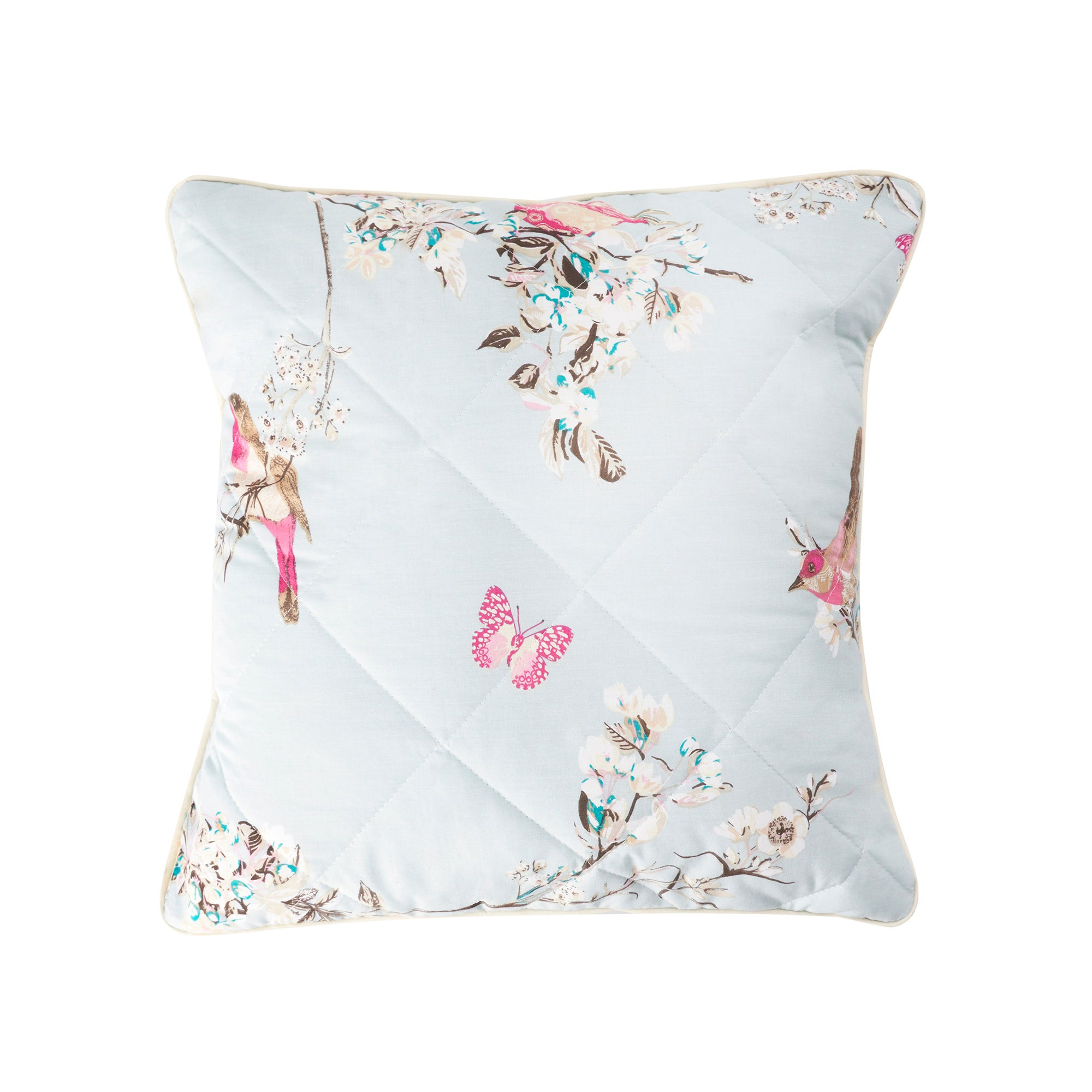 Duck Egg Beautiful Birds Collection Square Cushion