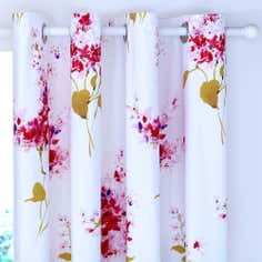 Pink Jenny Thermal Eyelet Curtains