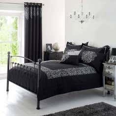 Black Valencia Collection Bedspread