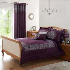 Plum Valencia Collection Bedspread