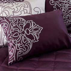 Plum Valencia Collection Boudoir Cushion