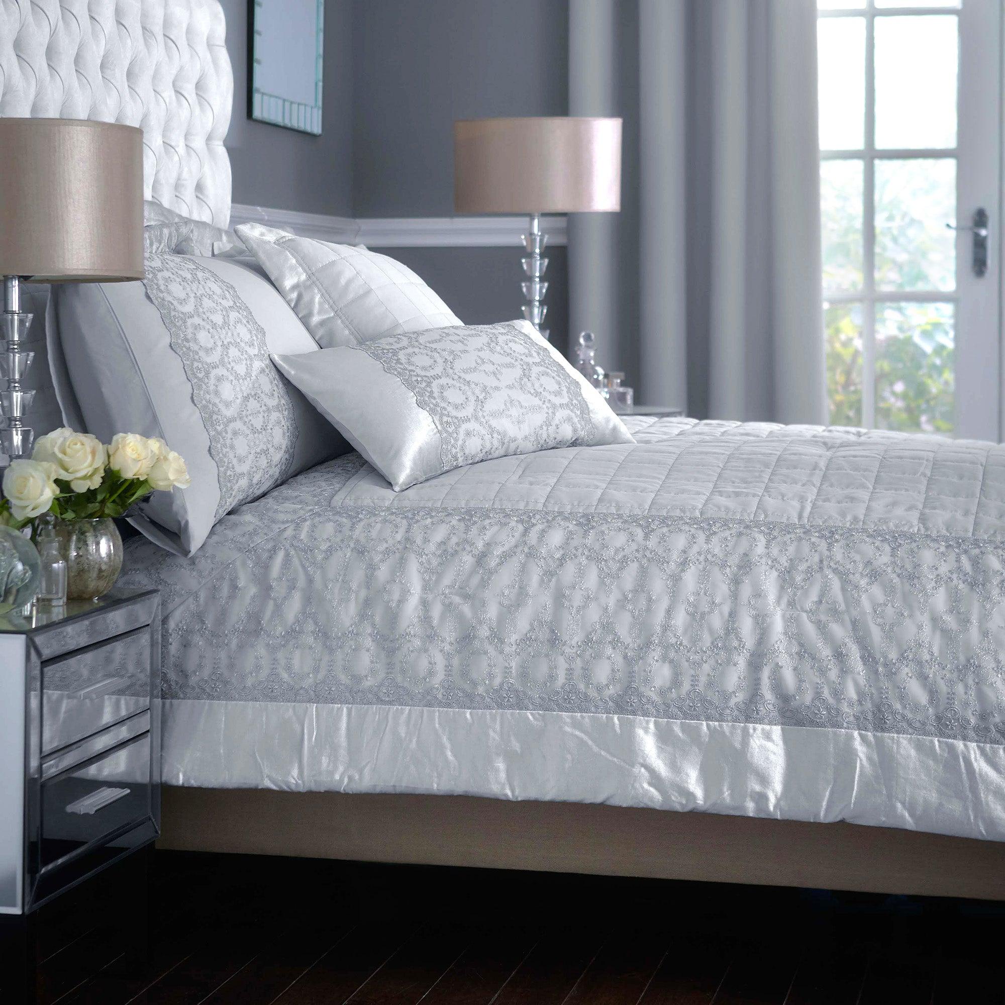 Grey Claudia Collection Bedspread