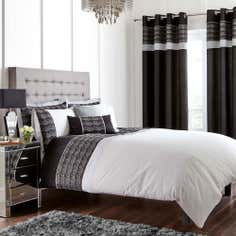 Black Gatsby Collection Duvet Cover