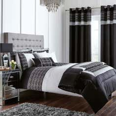 Black Gatsby Collection Bedspread