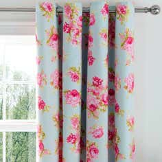 Duck Egg Isla Thermal Eyelet Curtains