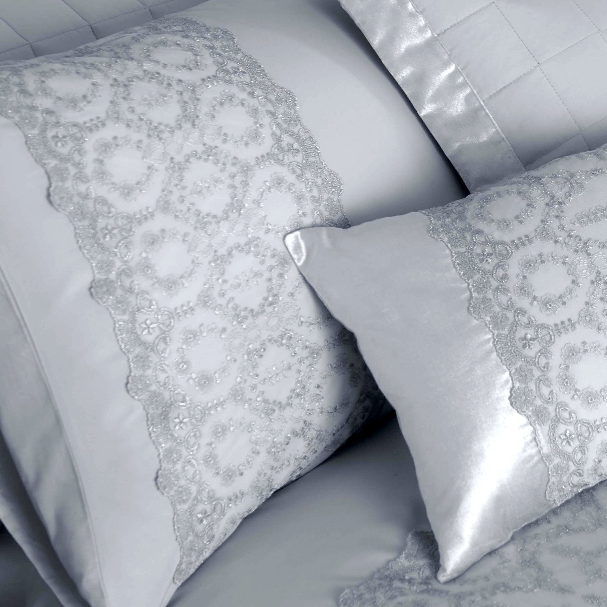 Grey Claudia Collection Housewife Pillowcase