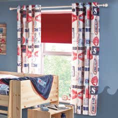 Kids Blue Surfer Blackout Eyelet Curtains