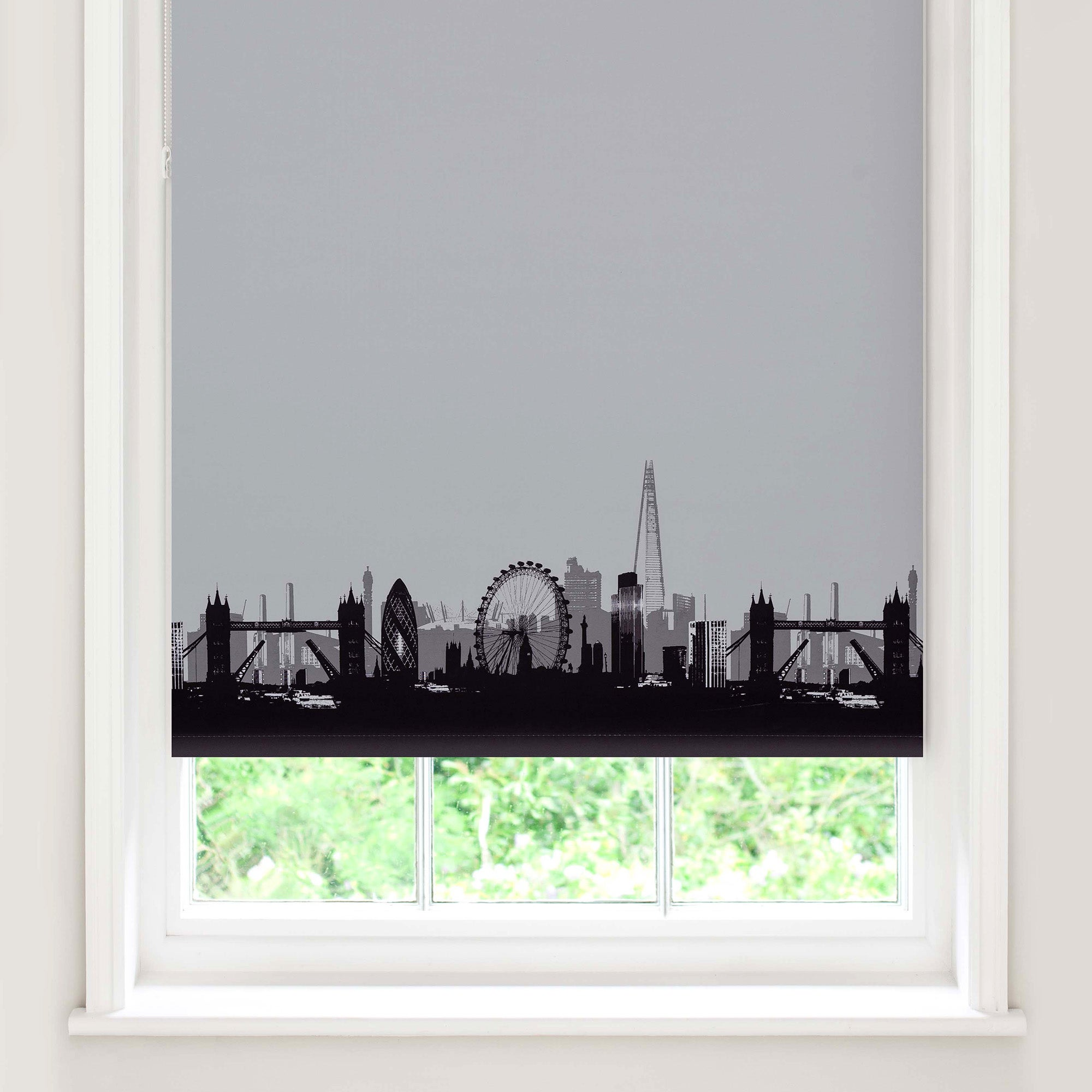 for london skyline blackout roller blind natural. Black Bedroom Furniture Sets. Home Design Ideas