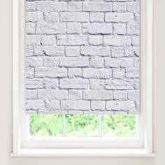White Bricks Blackout Roller Blind