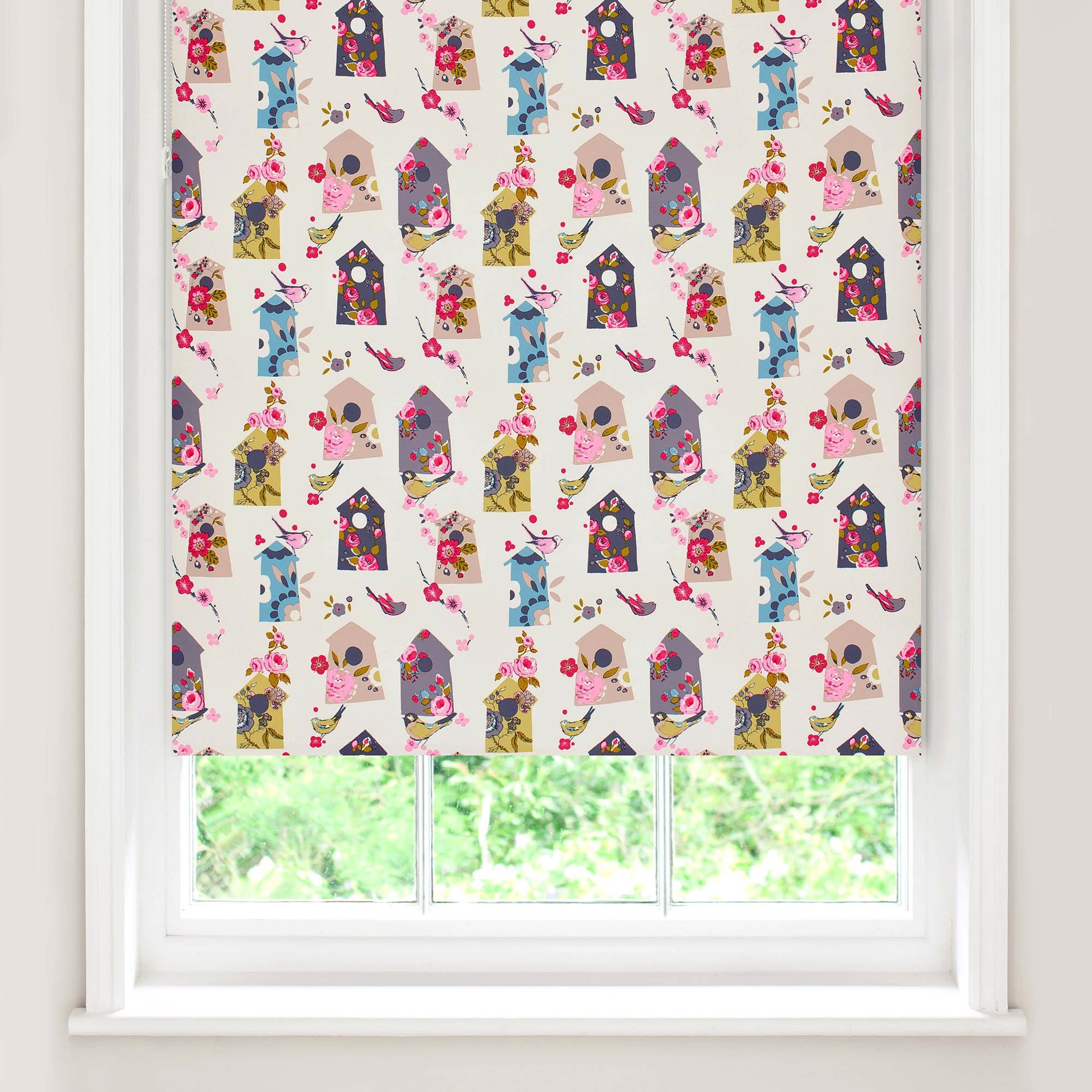 Birdhouse Blackout Roller Blind