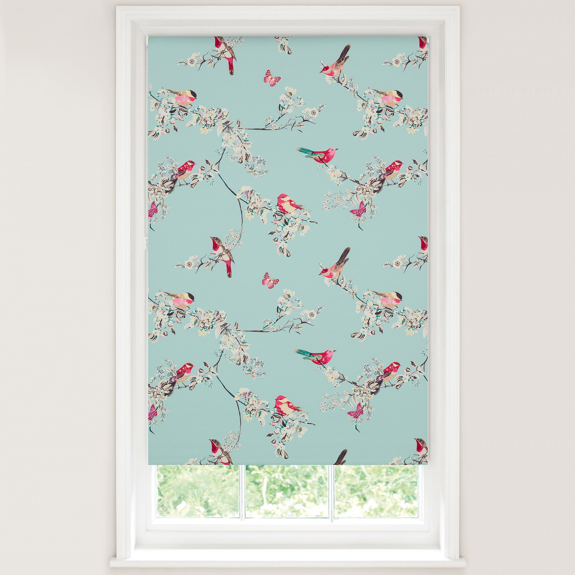 duck egg beautiful birds blackout roller blind dunelm. Black Bedroom Furniture Sets. Home Design Ideas
