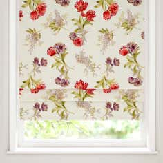 Red Tulip Blackout Roman Blind