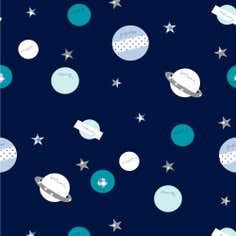 Space Mission PVC Fabric