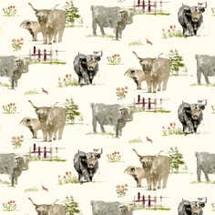 Horn Cattle PVC Fabric