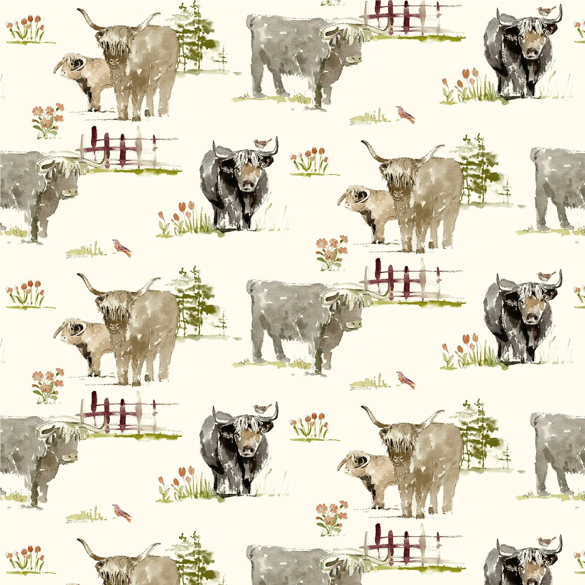 Horn Cattle PVC Fabric