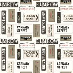 London Street Signs Fabric