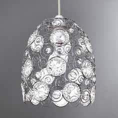 Chrome Claudette Light Pendant