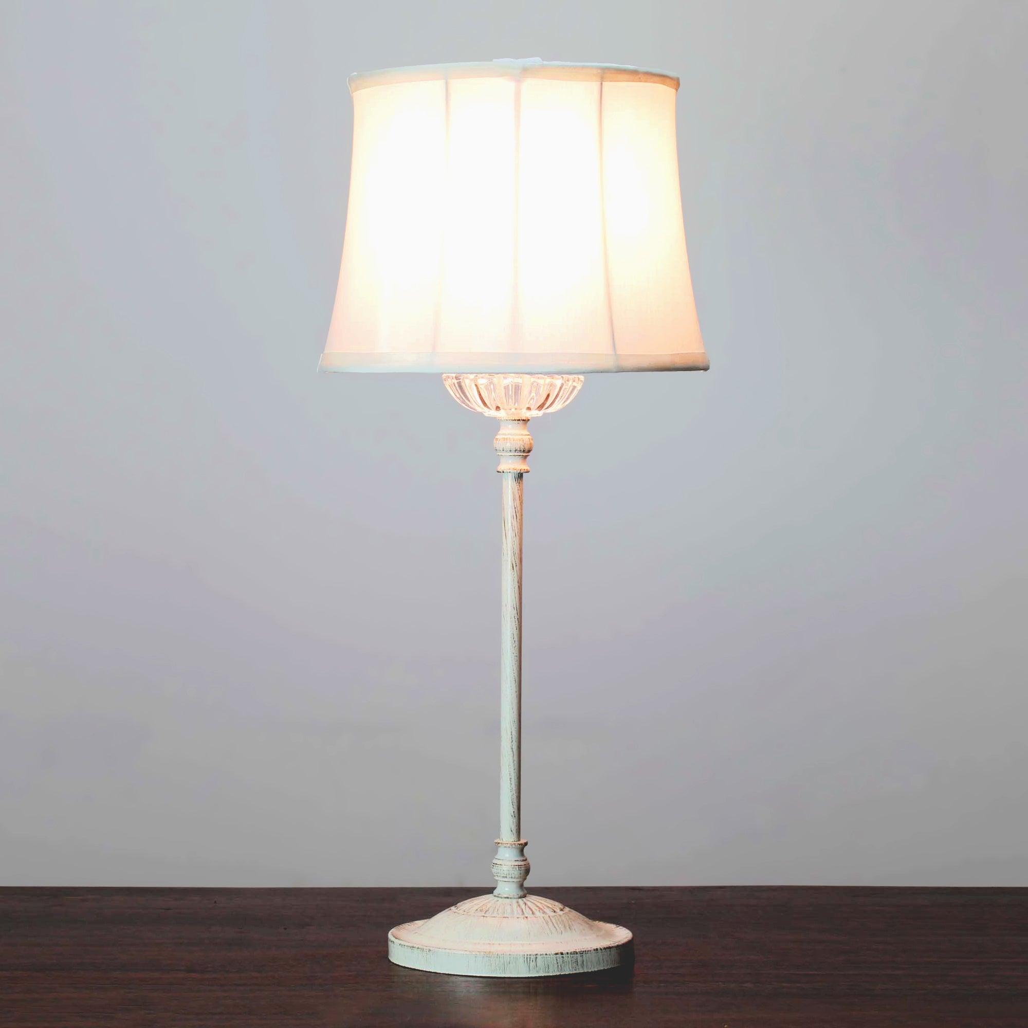 erica cream candlestick table lamp dunelm. Black Bedroom Furniture Sets. Home Design Ideas