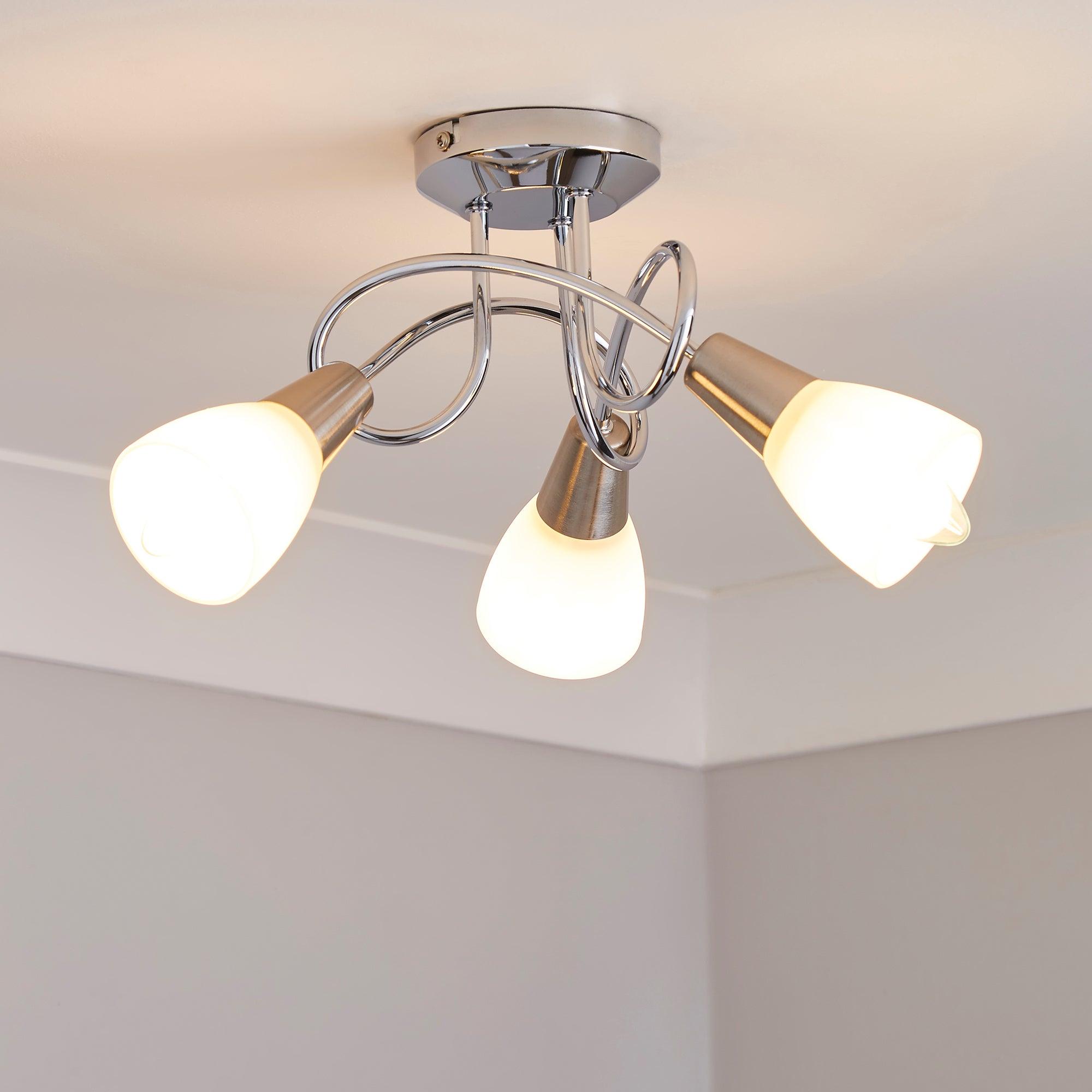 3 Light Chrome Ceiling Fitting