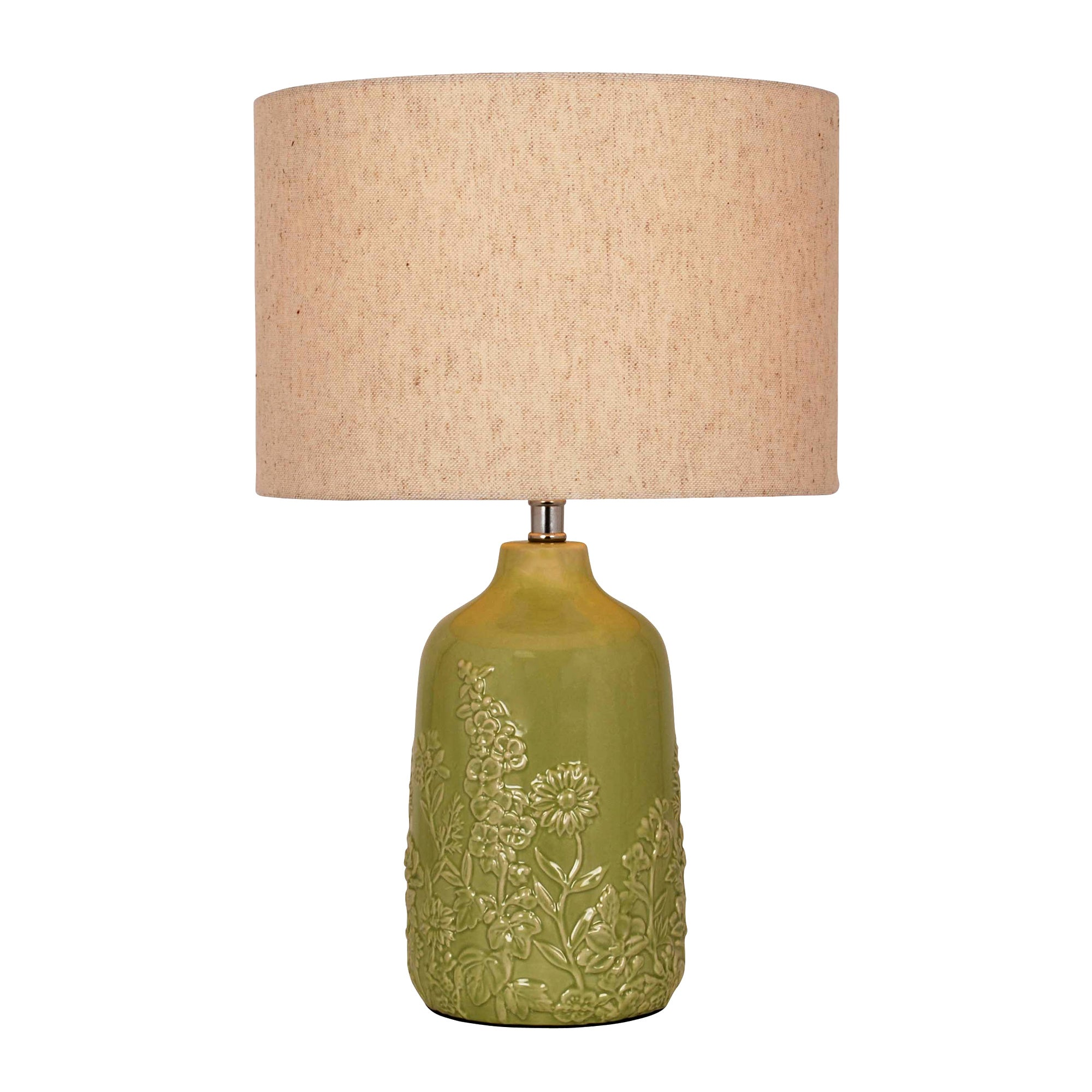 Meadow Embossed Bottle Table Lamp