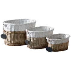 Two Tone Willow Basket
