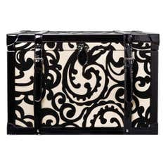 Black Baroque Flock Storage Trunk