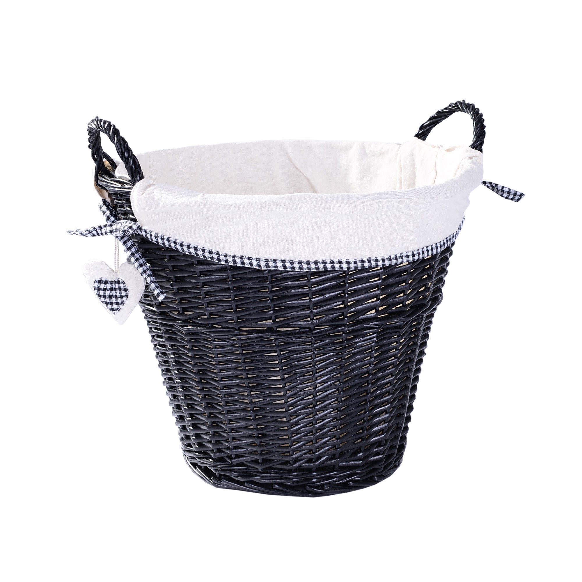 Black Lexi Collection Round Basket