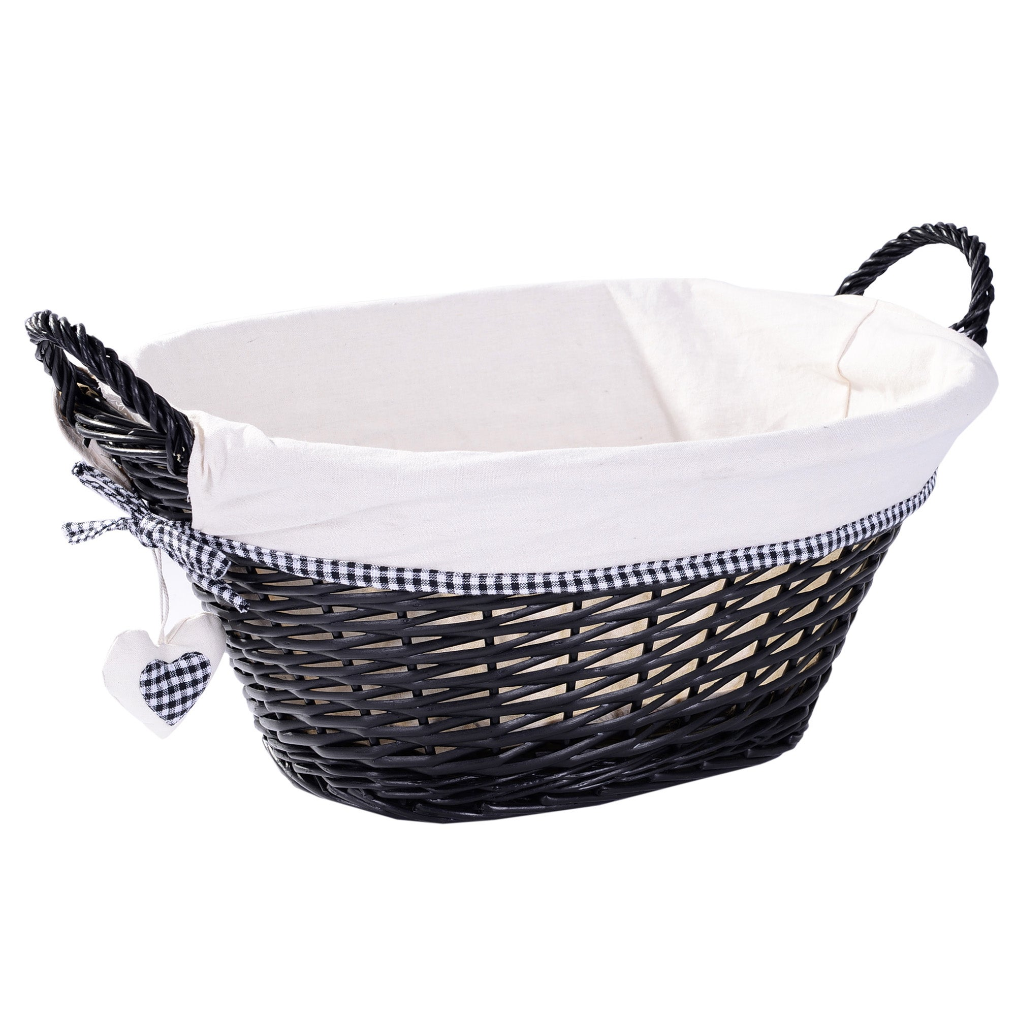 Black Lexi Collection Oval Basket