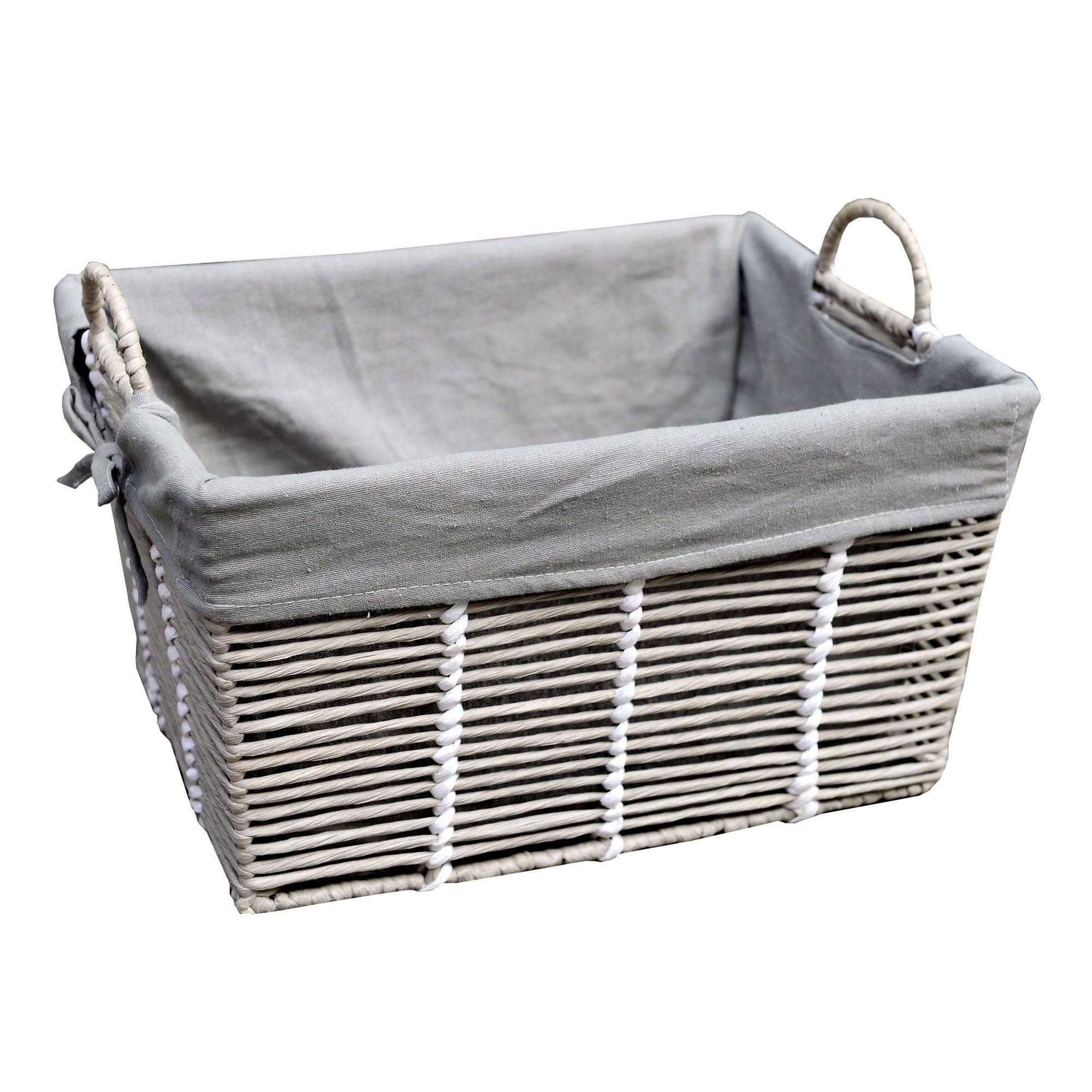 Purity Grey Basket with Handles
