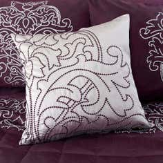 Plum Valencia Collection Square Cushion