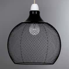 Black Mikayla Mesh Pendant