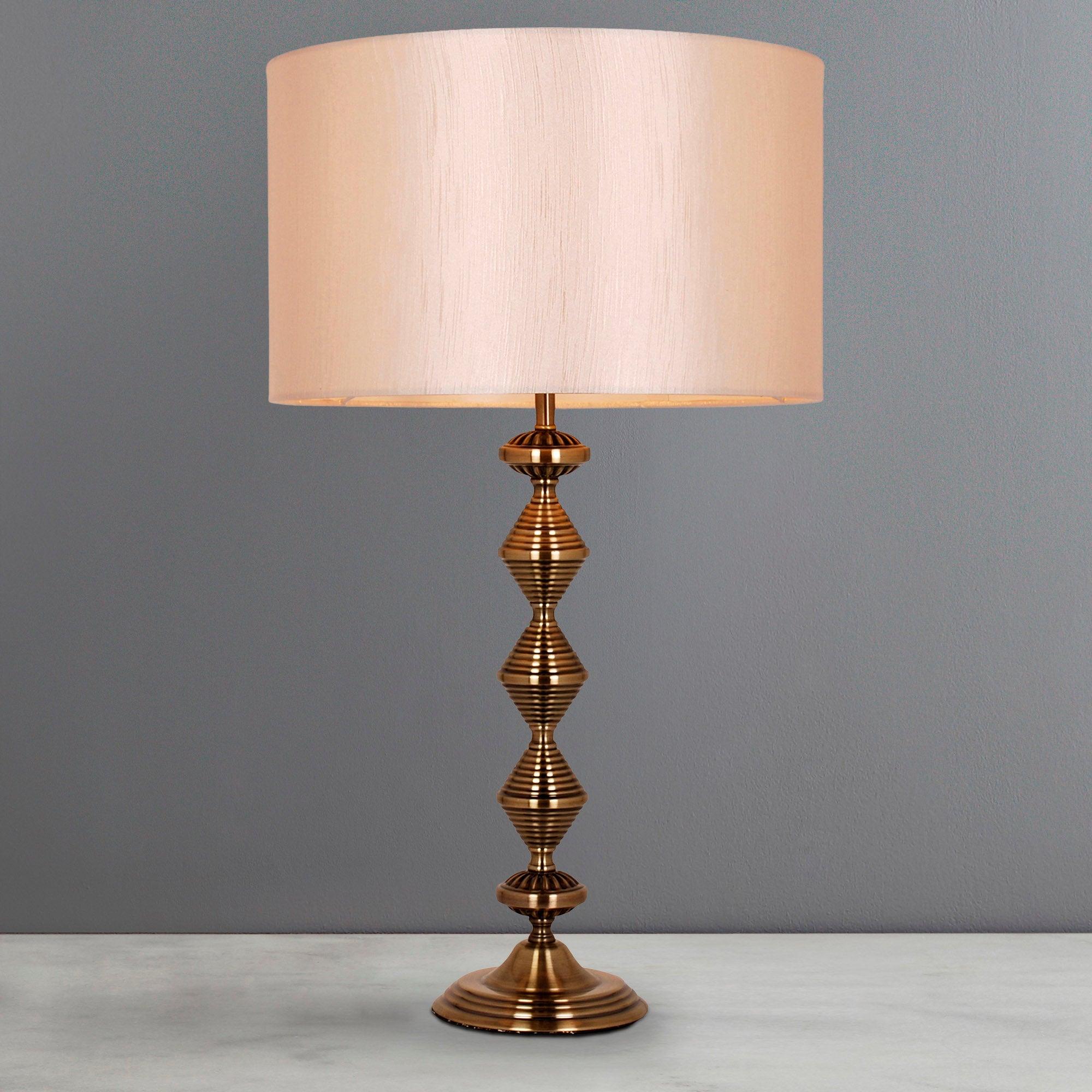 Metal Zig-Zag Table Lamp