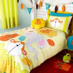 Kids Safari Friends Collection Single Duvet Set