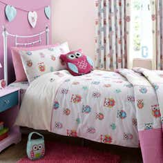 Kids Pretty Owls Collection Duvet Set