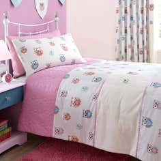 Kid's Pretty Owls Collection Bedspread