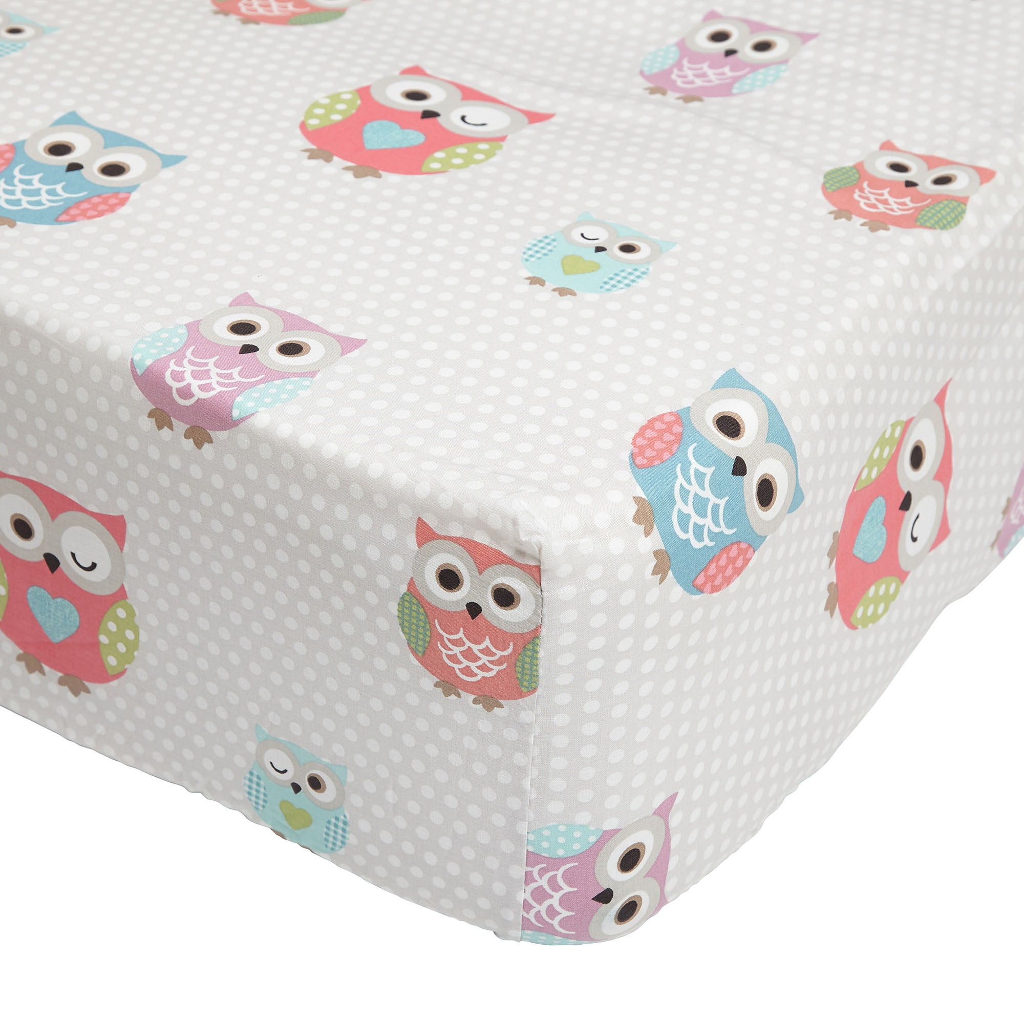Kids Pretty Owls Collection Fitted Sheet