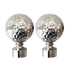 Satin Steel Hammered Ball Holdbacks