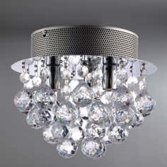 Suzie 3 Light Acrylic Drop Fitting