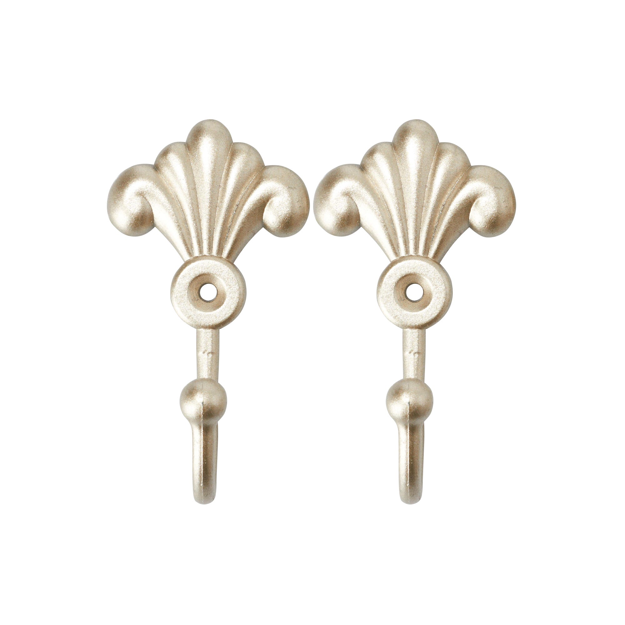 Champagne Pack of 2 Toulouse Scroll Hooks