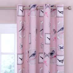 Pink Ariya Thermal Eyelet Curtains
