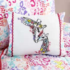 Kids Georgie Giraffe Collection Embroidered Cushion
