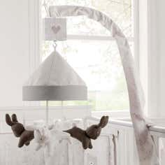 Dorma White Bunny Meadow Collection Cot Mobile