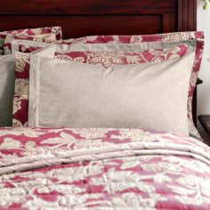 Dorma Red Samira Collection Cuffed Pillowcase
