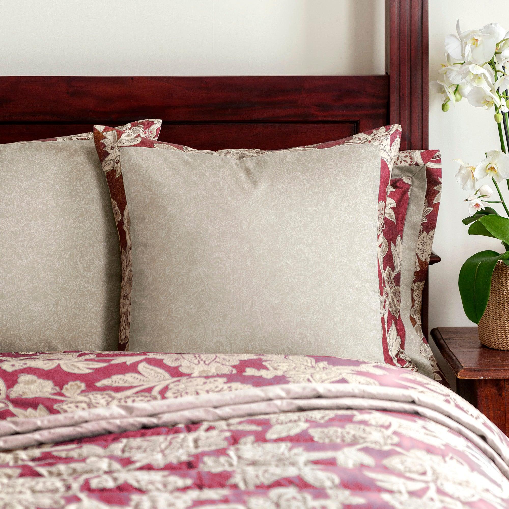 Dorma Red Samira Collection Continental Pillowcase