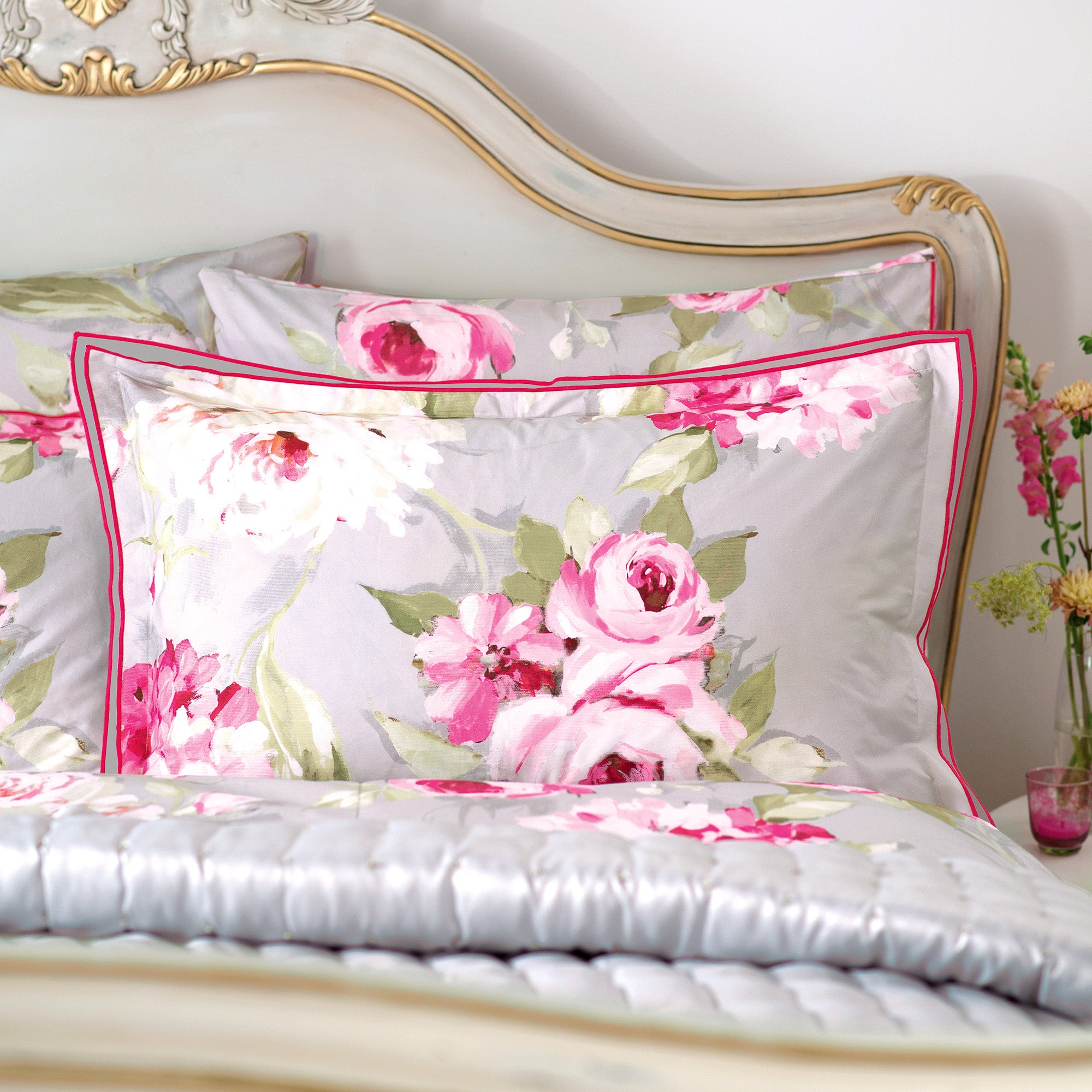 Dorma Pink Nancy Collection Oxford Pillowcase