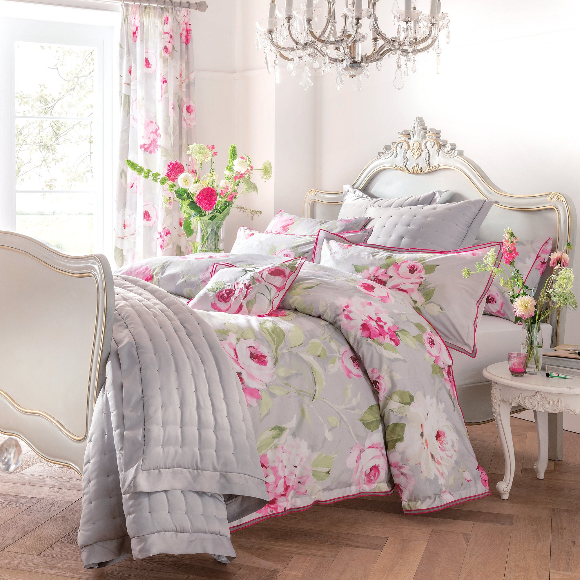 dorma pink nancy collection duvet cover dunelm. Black Bedroom Furniture Sets. Home Design Ideas