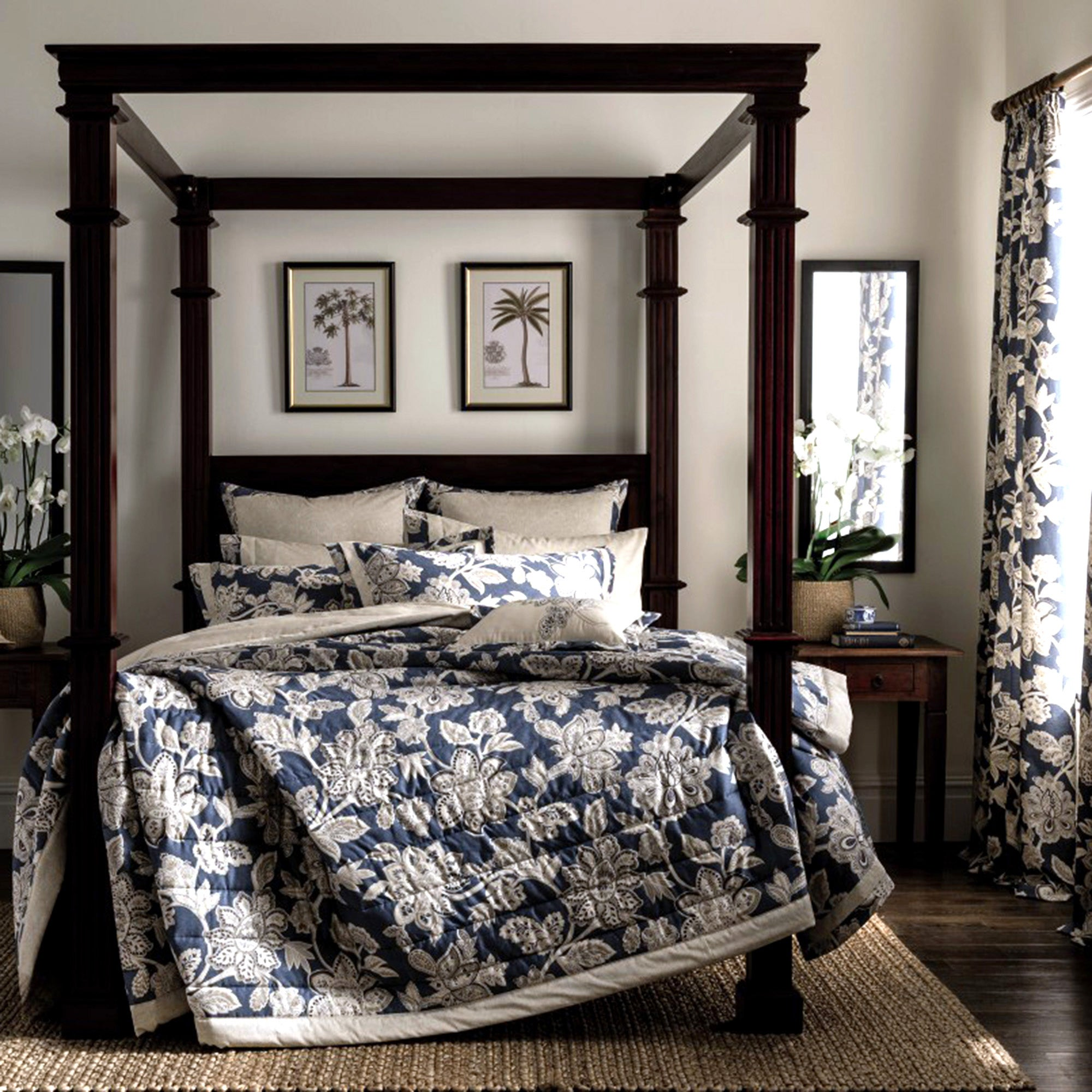 Dorma Blue Samira Collection Bedspread