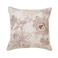 Natural Jacobean Collection Embroidered Cushion